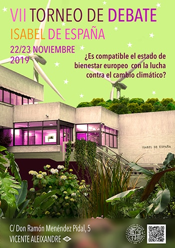 22 – 23 Noviembre 2019 VII Torneo de Debate Isabel de España