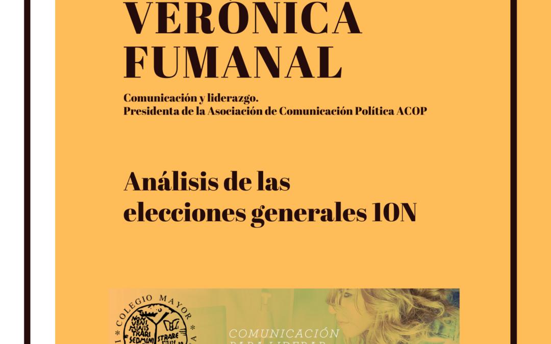 Encuentro con Verónica Fumanal Análisis de las elecciones generales 10N