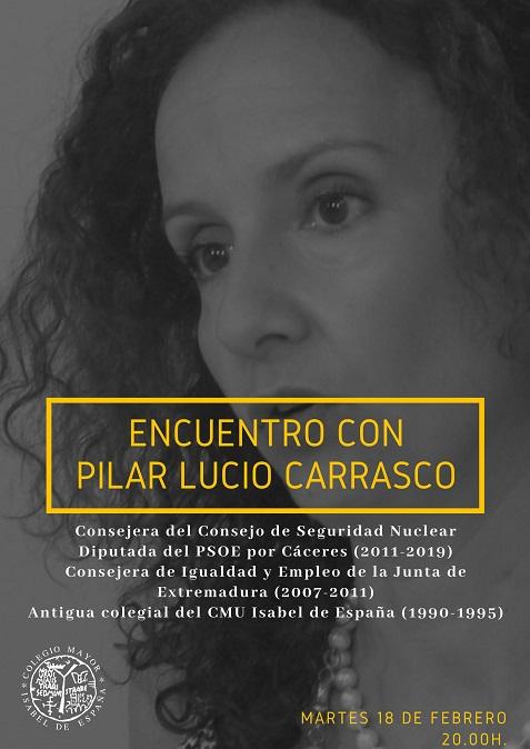 Encuentro con Pilar Lucio Carrasco