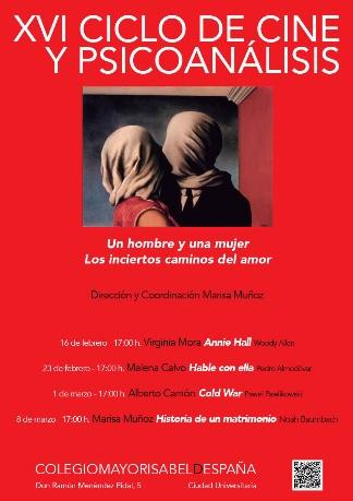 XVI Ciclo de Cine y Psicoanálisis: Un hombre y una mujer. Los inciertos caminos del amor