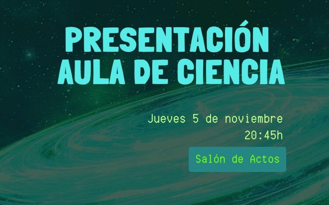 Presentación Aula de Ciencia