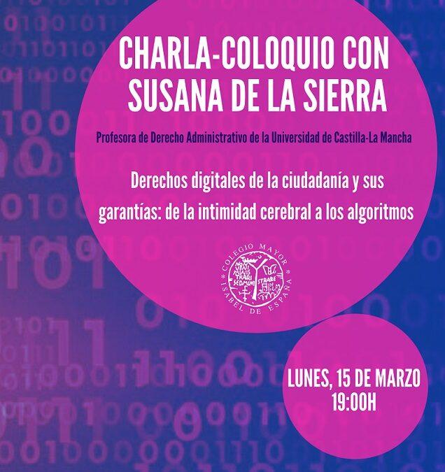 Charla-Coloquio Susana de la Sierra