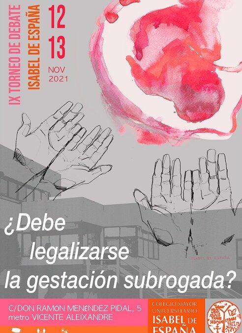 IX Torneo de Debate Isabel de España – 12 y 13 noviembre 2021
